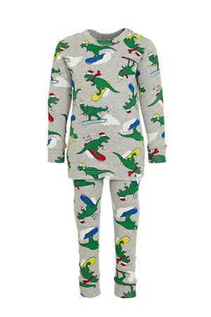 baby pyjama met dierenprint grijs