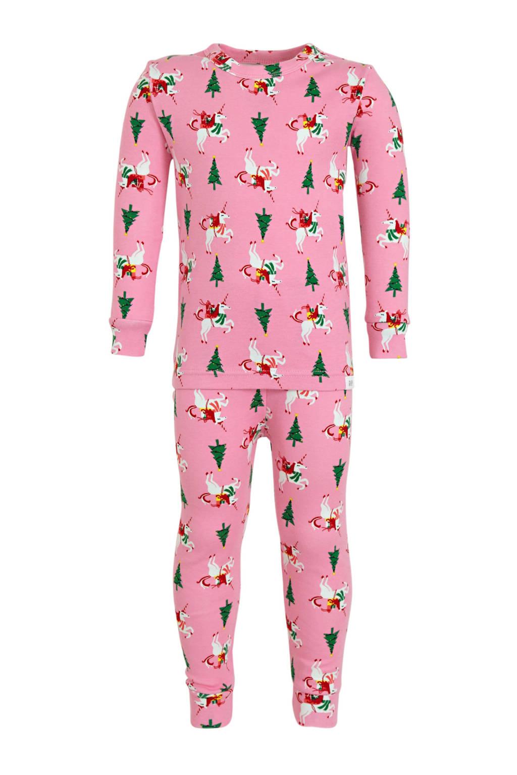 GAP baby pyjama met all over print roze, Roze