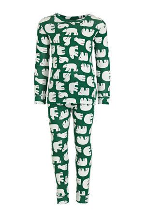pyjama ijsberen groen/wit