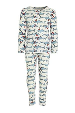 baby pyjama met dierenprint lichtblauw