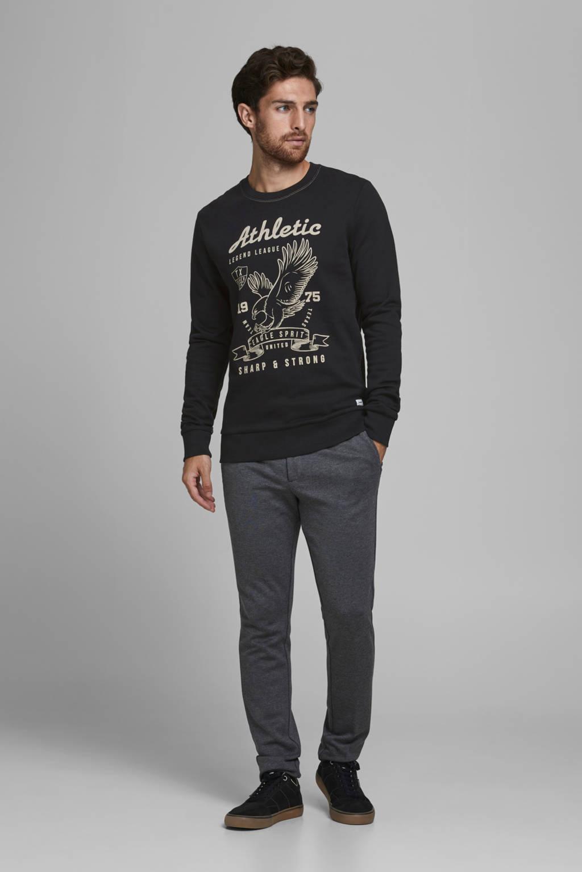 PRODUKT sweater met printopdruk zwart, Zwart