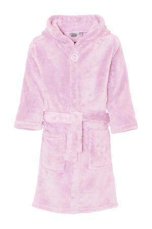 fleece badjas lichtroze