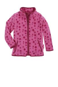 Playshoes fleece vest Stars met sterren roze/fuchsia, Roze/fuchsia