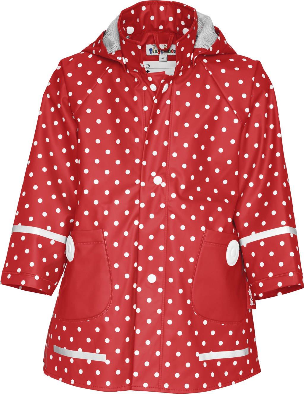 Playshoes regenjas Dots met stippen rood/wit, Rood/wit