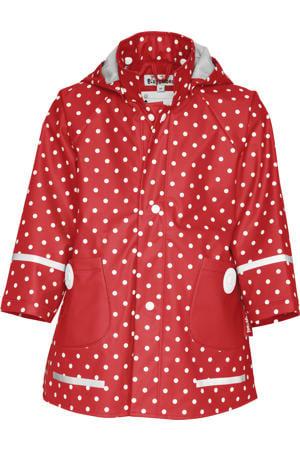 regenjas Dots met stippen rood/wit