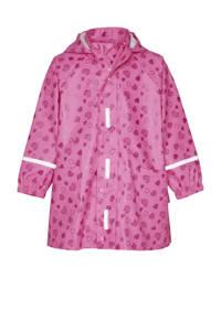 Playshoes regenjas Sweethearts met all over print roze/donkerroze, Roze/donkerroze