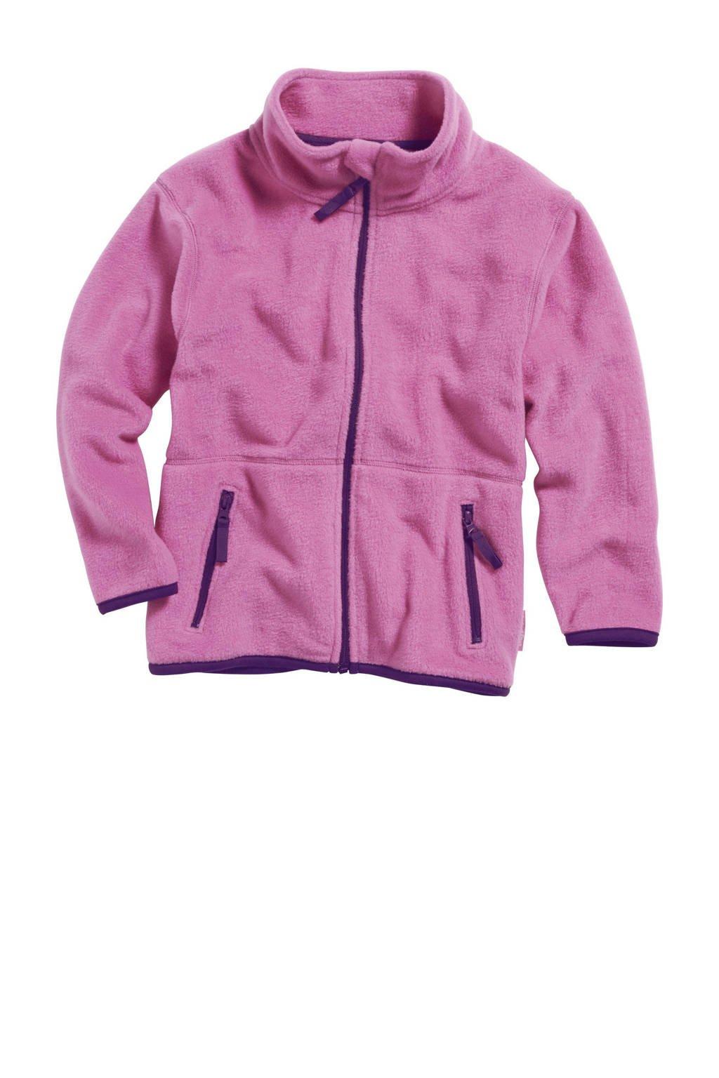 Playshoes fleece vest roze/blauw, Roze/blauw