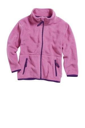 fleece vest roze/blauw
