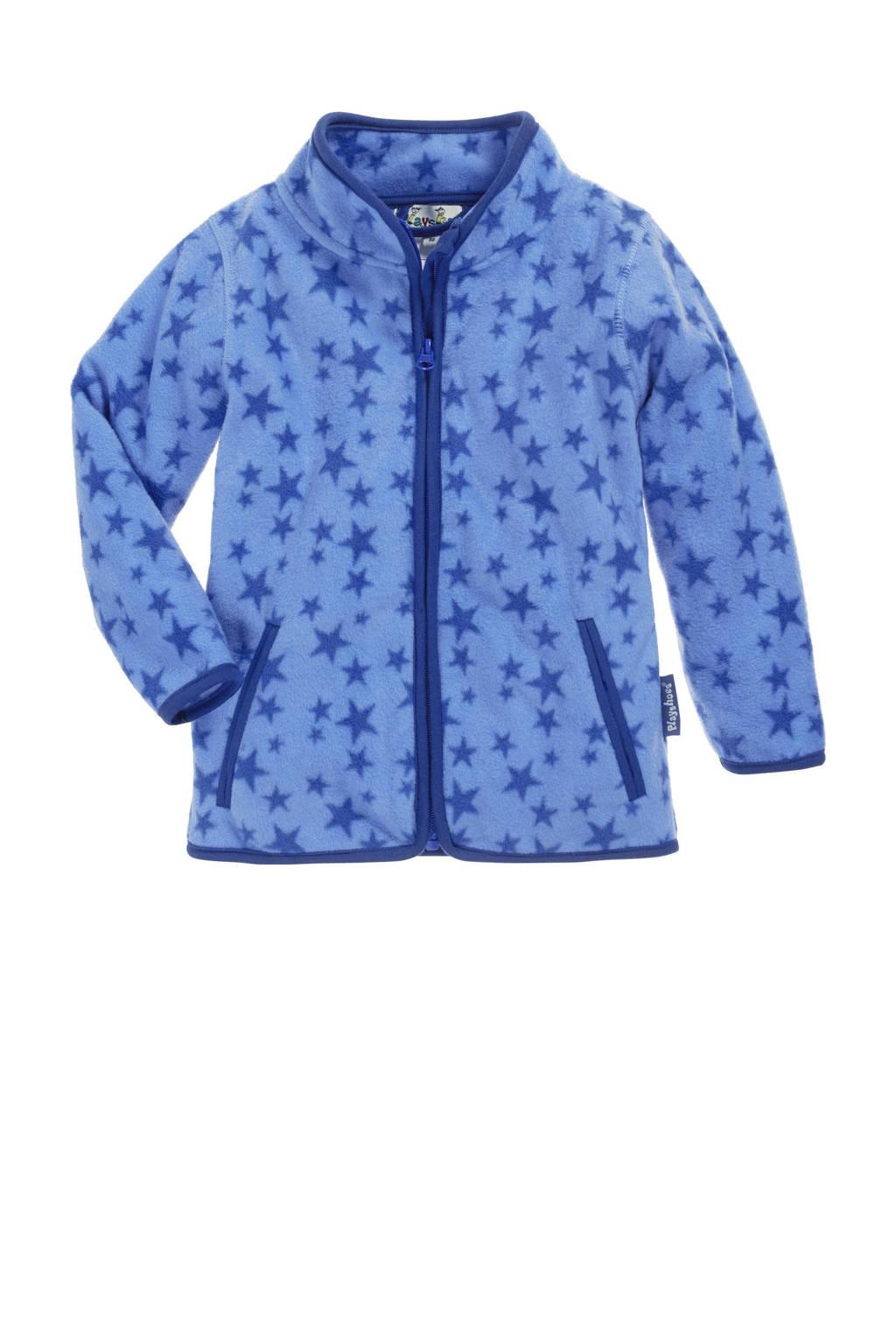 Playshoes fleece vest Stars met sterren lichtblauw/blauw, Lichtblauw/blauw