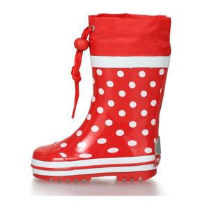 Dots  regenlaarzen met stippen rood/wit