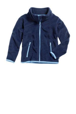 fleece vest donkerblauw/lichtblauw