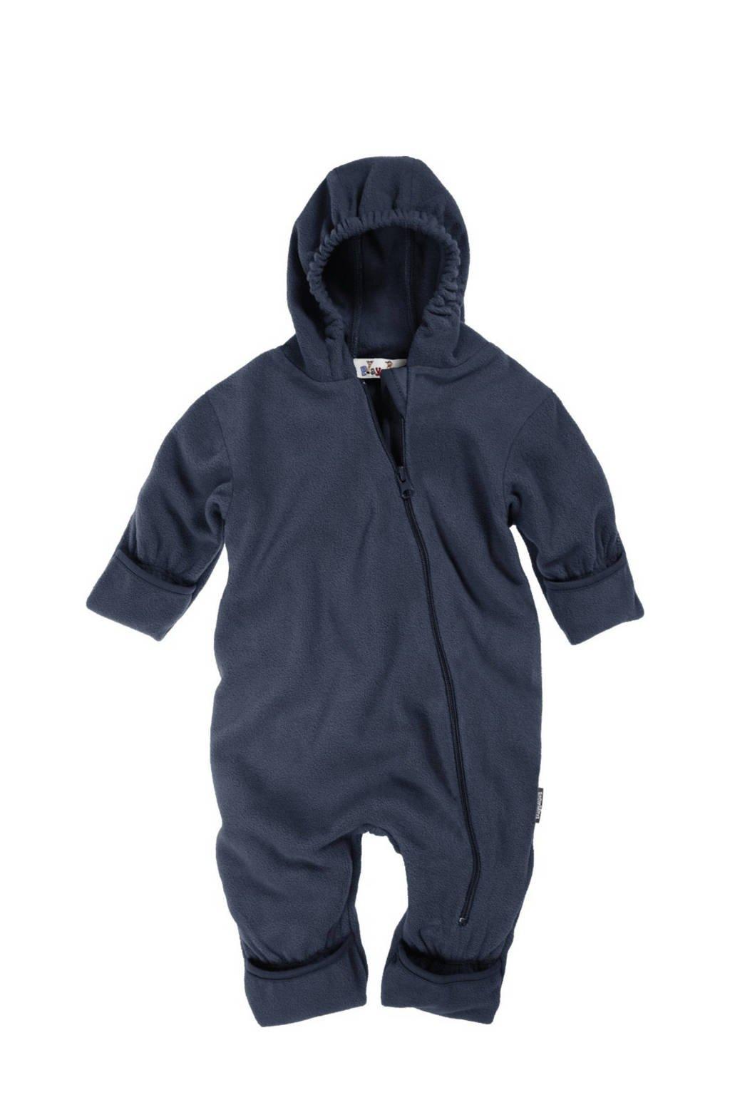 Playshoes baby fleece reversible jas donkerblauw, Donkerblauw