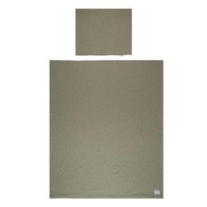 Katoen (biologisch) dekbedovertrek 1-persoons dots 140x200 cm Sponge