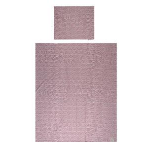 Katoen (biologisch) dekbedovertrek 1-persoons dots 140x200 cm Rose