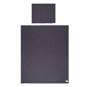 Katoen (biologisch) dekbedovertrek 1-persoons dots 140x200 cm Pavement
