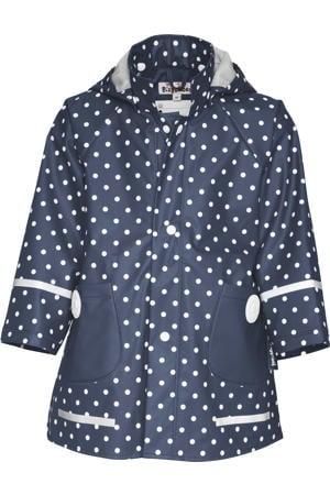 regenjas Dots met stippen donkerblauw/wit