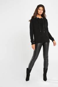 Morgan fijngebreide trui zwart, Zwart