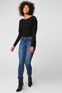 Morgan trui met lage achterkant met sierstenen zwart, Zwart