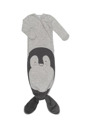 baby knoopslaapzak 3-6 mnd Grey melange Pinguin