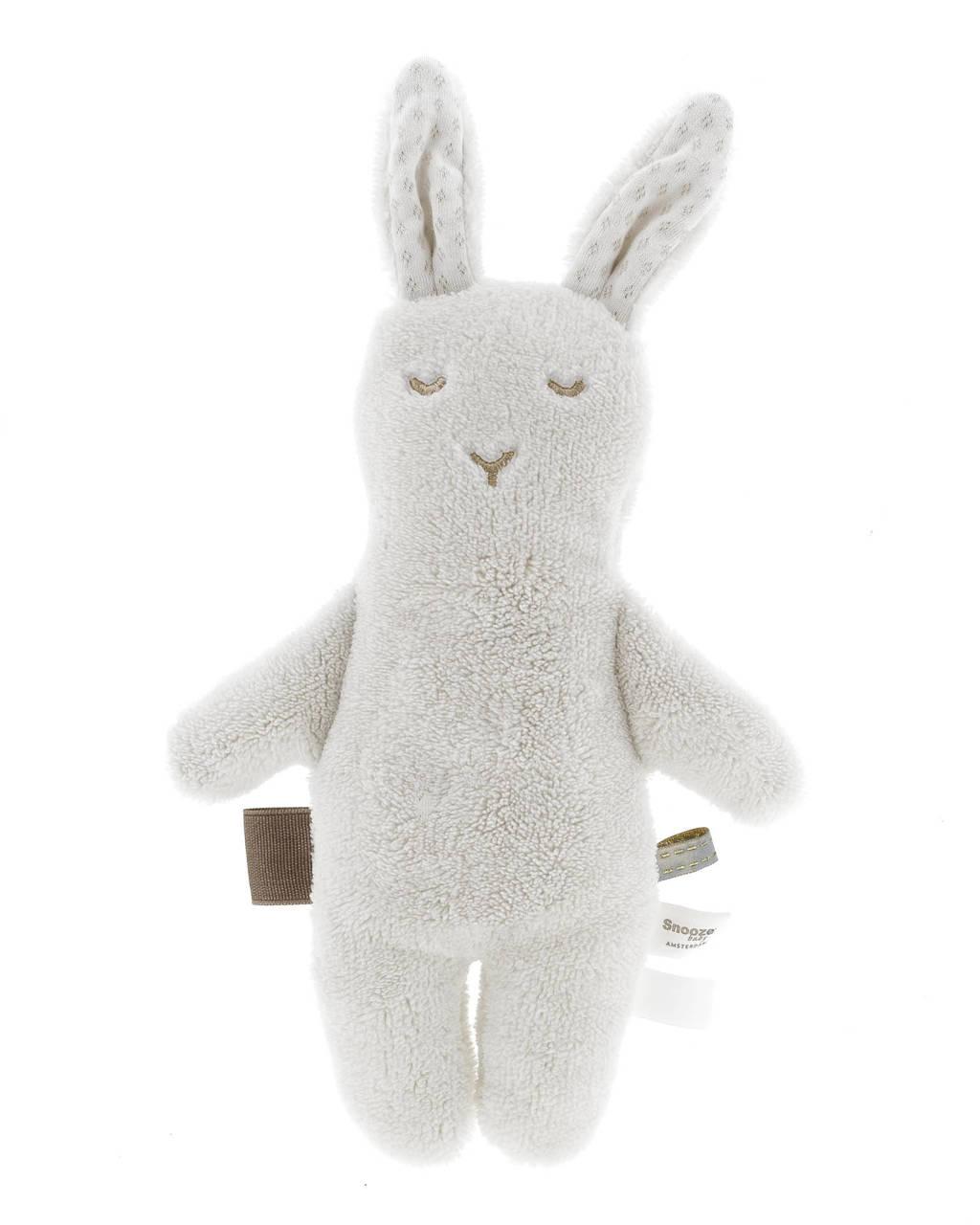 Snoozebaby konijn knuffel 30 cm, Grijs