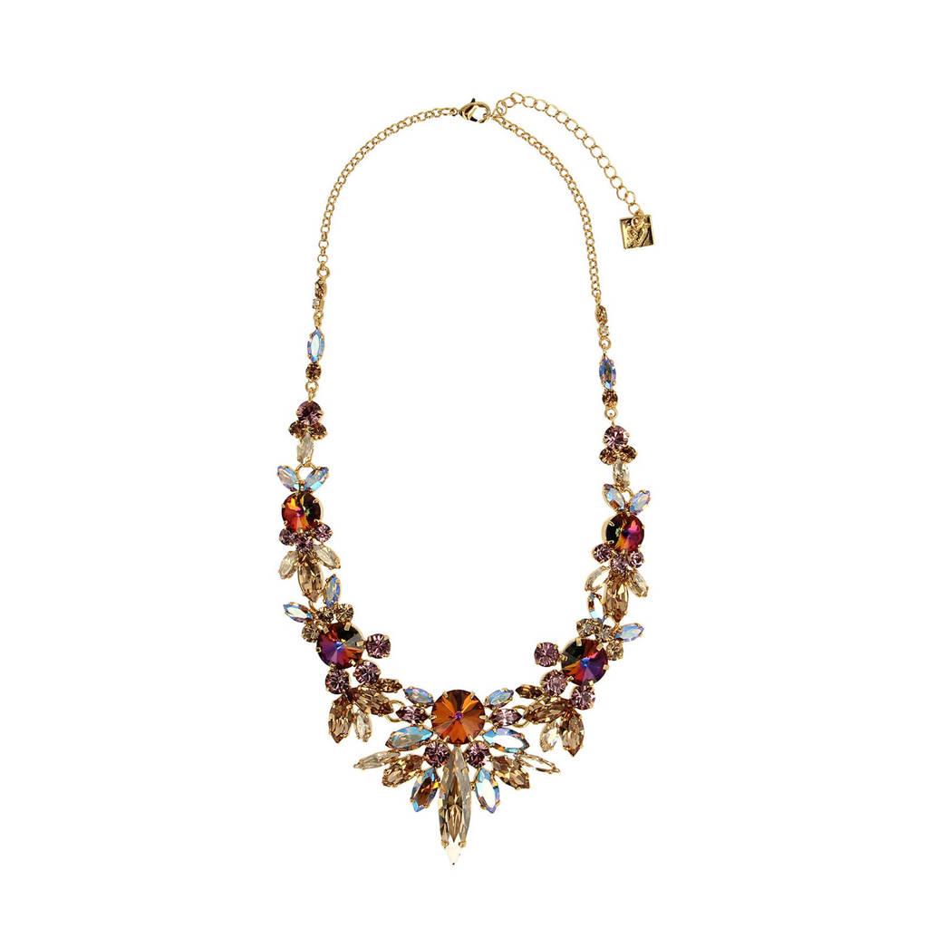 Otazu ketting met Swarovski kristallen 50 Shades of Gold, Multi
