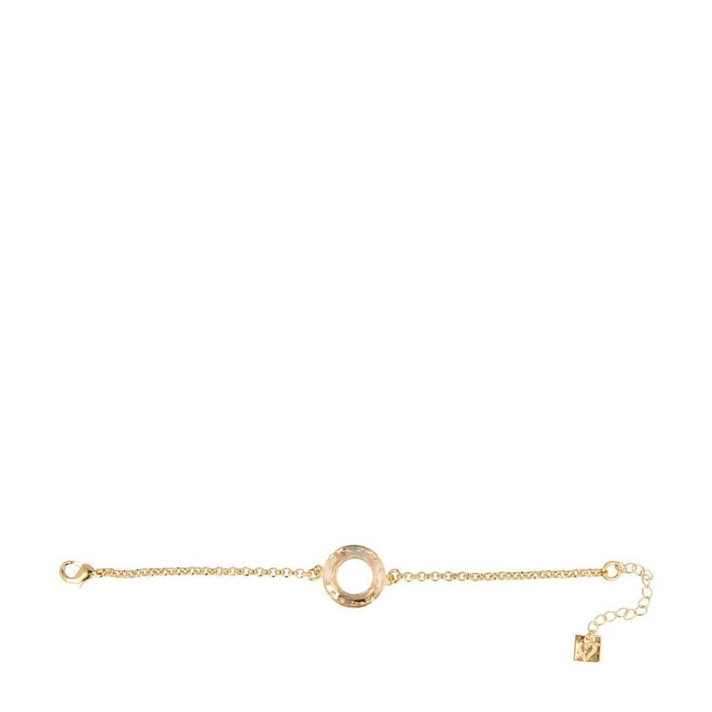 Otazu armband met Swarovski Kristallen Saturn, Goud