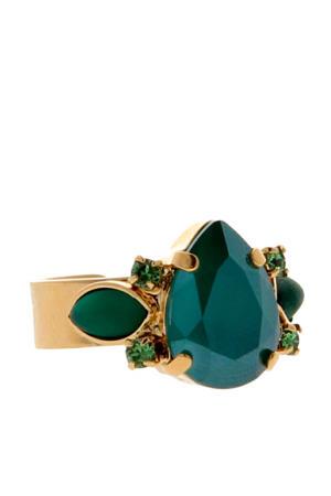 ring met Swarovski Kristallen Royal Pine