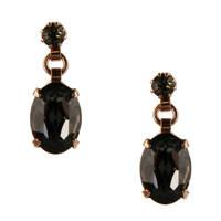 Otazu oorbellen met Swarovski Kristallen Jet Night, Zwart
