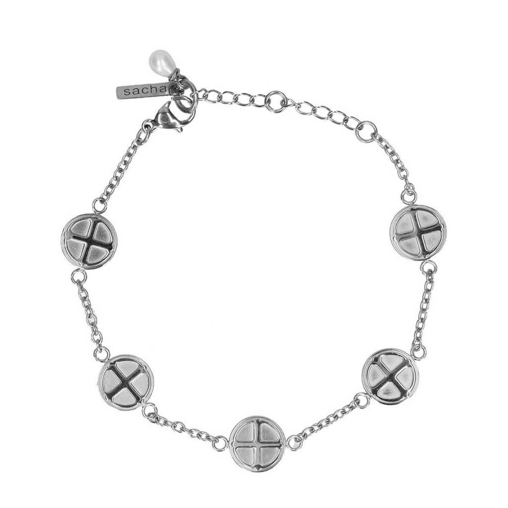 Sacha armband zilverkleurig, Zilver