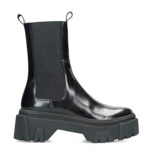 hoge lakleren chelsea boots zwart