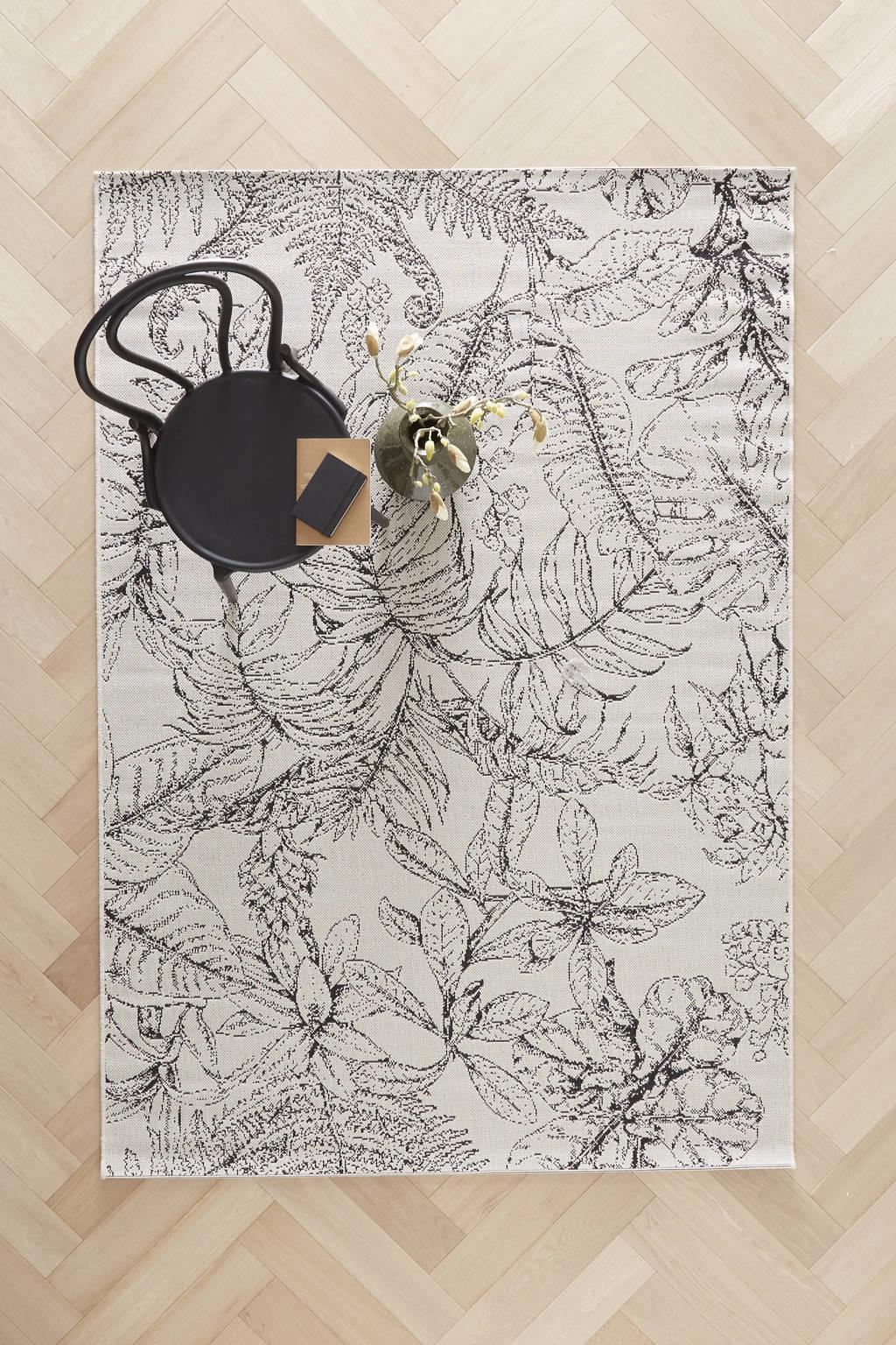 wehkamp home binnen- en buitenvloerkleed  (230x160 cm), Wol/Zwart