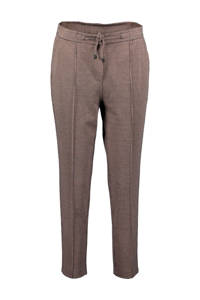 Re-Draft geruite slim fit broek bruin/zwart, Bruin/zwart