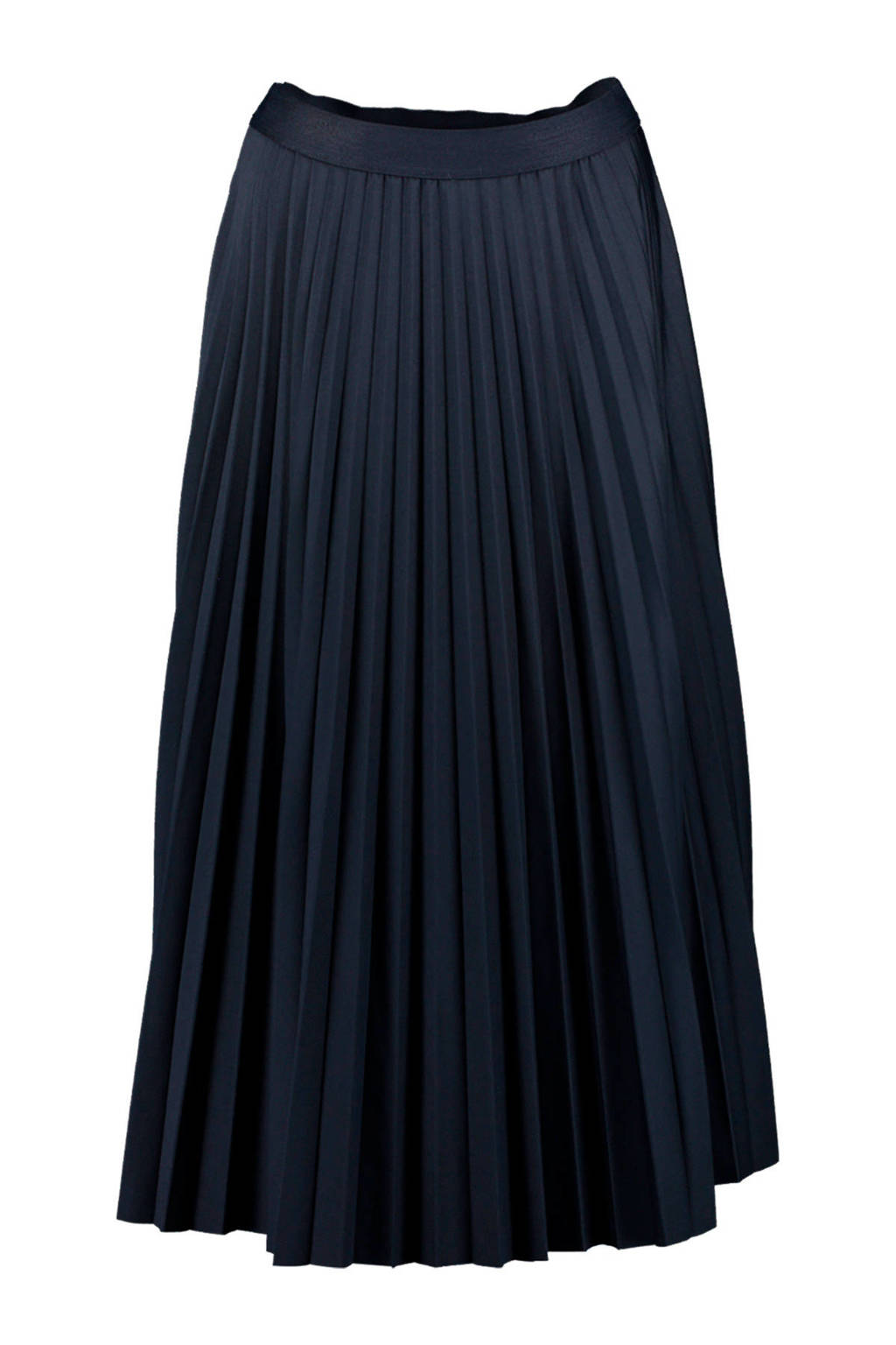 Re-Draft plissé rok donkerblauw, Donkerblauw
