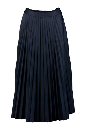 plissé rok donkerblauw