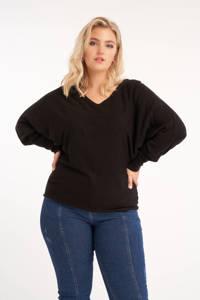 MS Mode fijngebreide trui zwart, Zwart