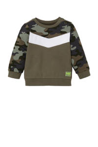 C&A Baby Club sweater met camouflageprint olijfgroen/wit, Olijfgroen/wit