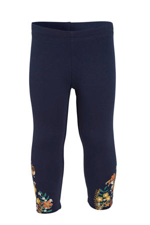 legging met printopdruk donkerblauw