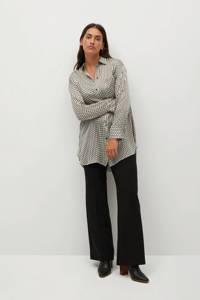 Violeta by Mango blouse met all over print ecru, Ecru