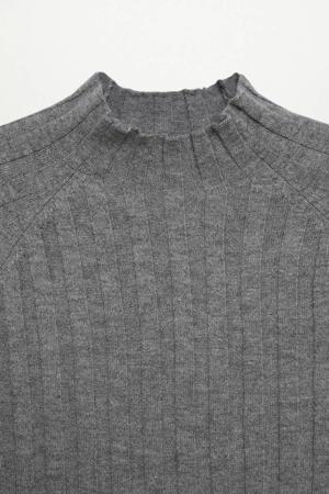 top met wol grijs