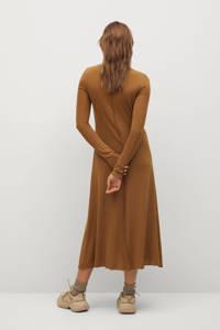 Mango fijngebreide jurk middenbruin, Middenbruin