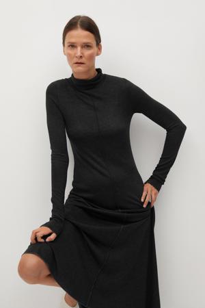 fijngebreide jurk donkergrijs