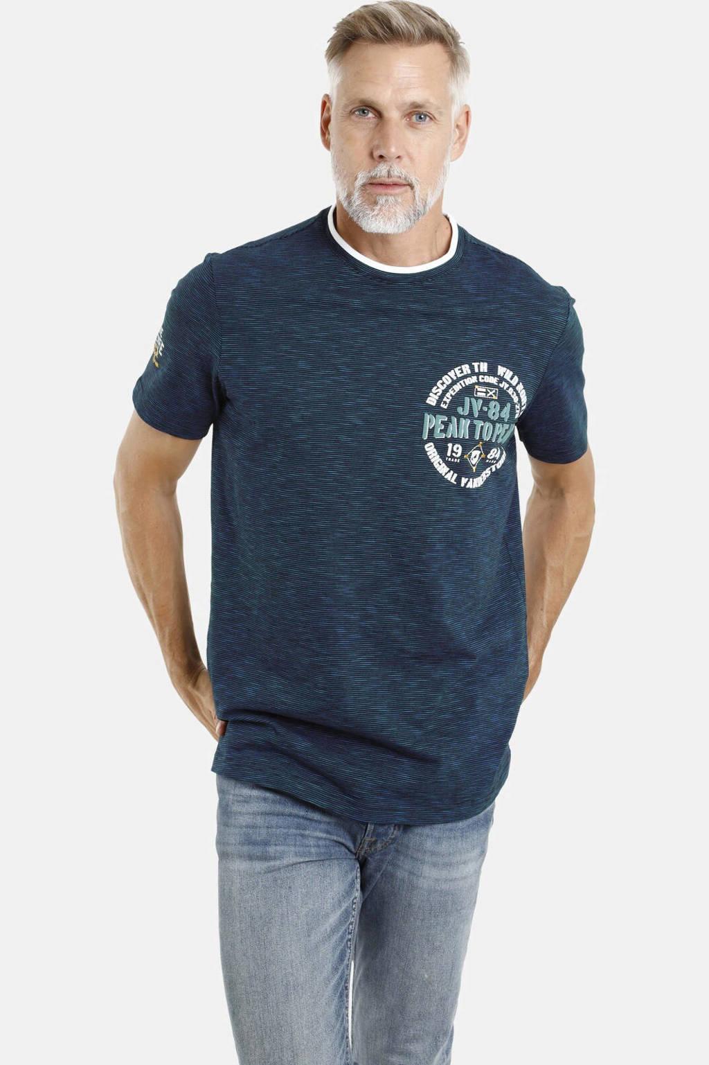 Jan Vanderstorm T-shirt Plus Size met printopdruk Plus Size zwart, Zwart