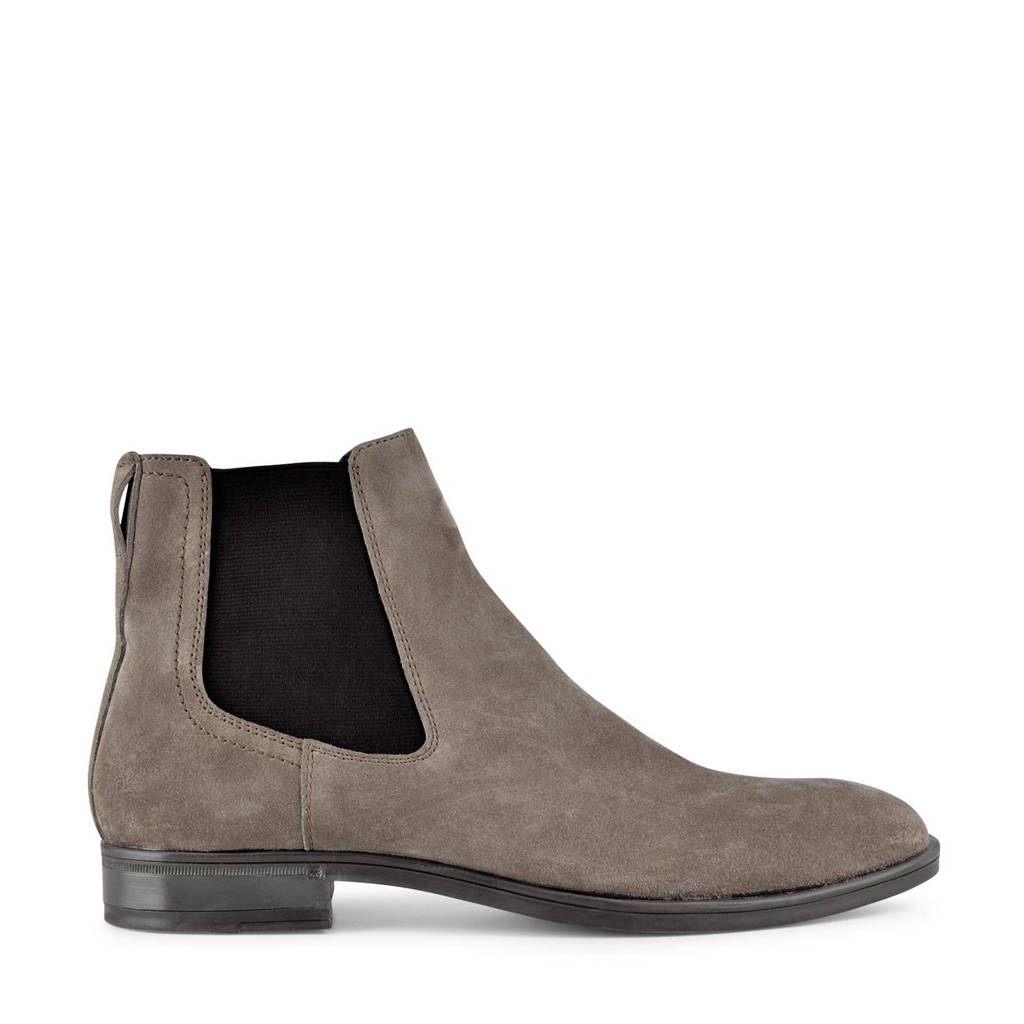 PS Poelman Jim  suède chelsea boots taupe, Taupe