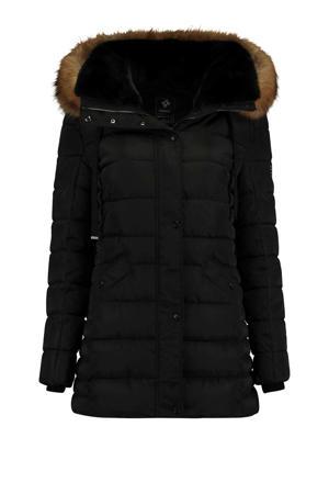 gewatteerde jas Fabienne zwart