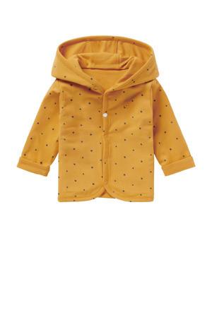 baby reversible vest Bonny okergeel/donkerblauw