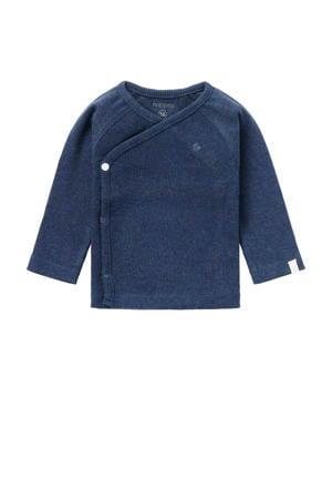 baby longsleeve Nanyuki met borduursels donkerblauw