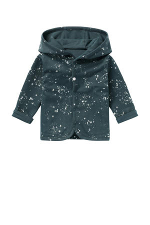 baby reversible vest Bonny donkergroen/wit