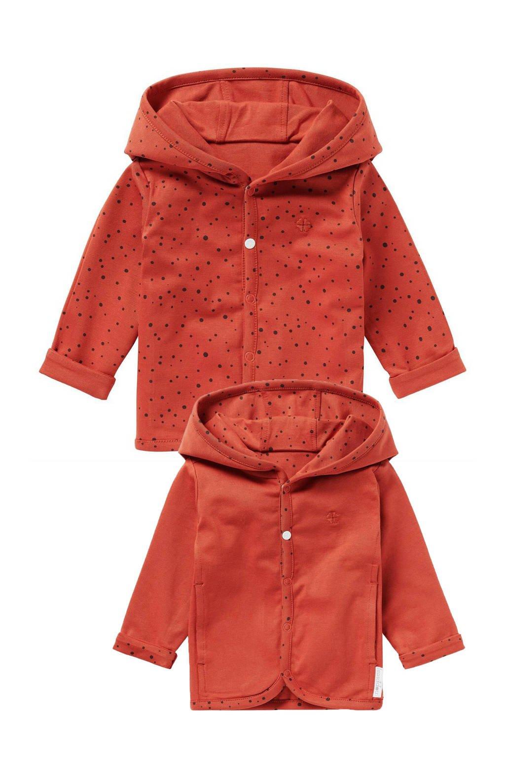 Noppies baby reversible vest Bonny roodbruin, Roodbruin