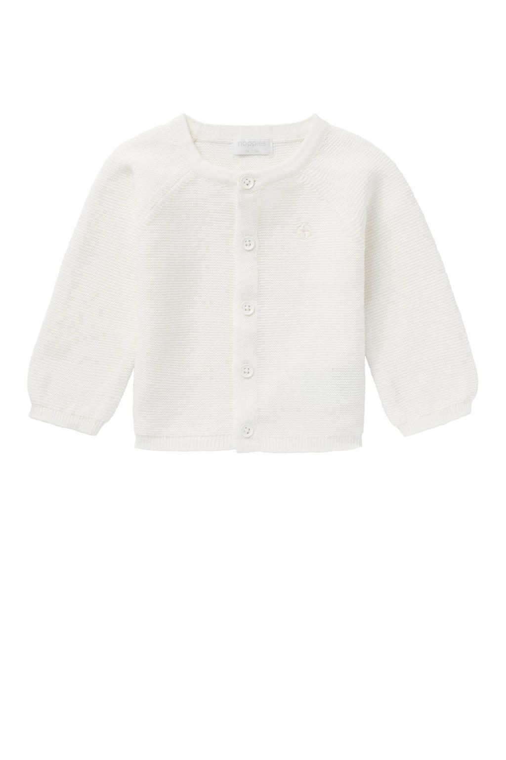 Noppies baby vest Naga van biologisch katoen wit, Wit
