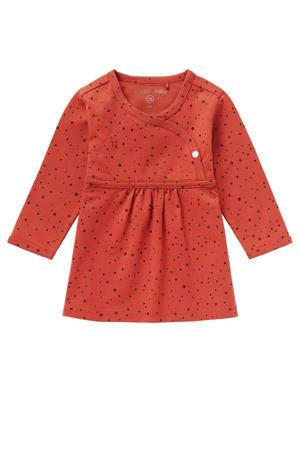 baby jurk Liz met biologisch katoen roodbruin
